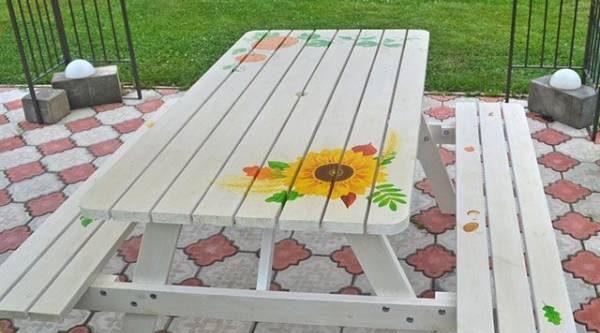 Нескучный стол. Как разнообразить садовый интерьер
